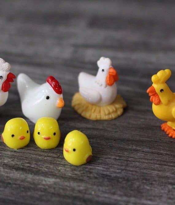 terrarium figurines singapore Chicken Family October 2021
