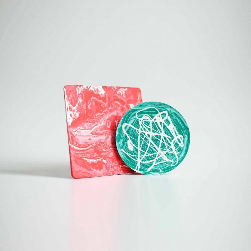 Marbled Coaster DIY Kit October 2021