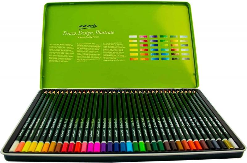 Mont Marte Colouring Pencils Set - 36 pieces October 2021