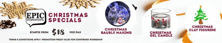 Christmas Workshops in Singapore October 2021