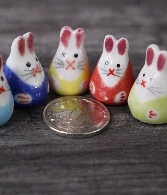 Mini Figurines Mini Rabbit Porcelain Figurines October 2021